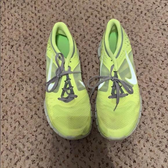 Nike Shoes | Nike Neon Yellow Free Run